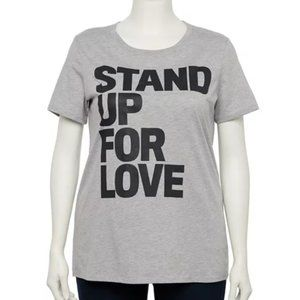 Stand Up For Love Short Sleeve Tee 2X